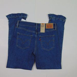 New Levis Skinny Ankle Jeans Stretch Mid Rise